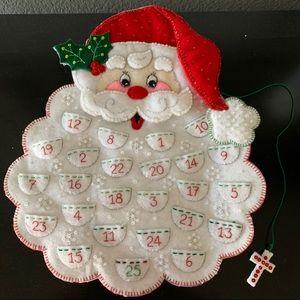 Handmade Santa Advent Calendar